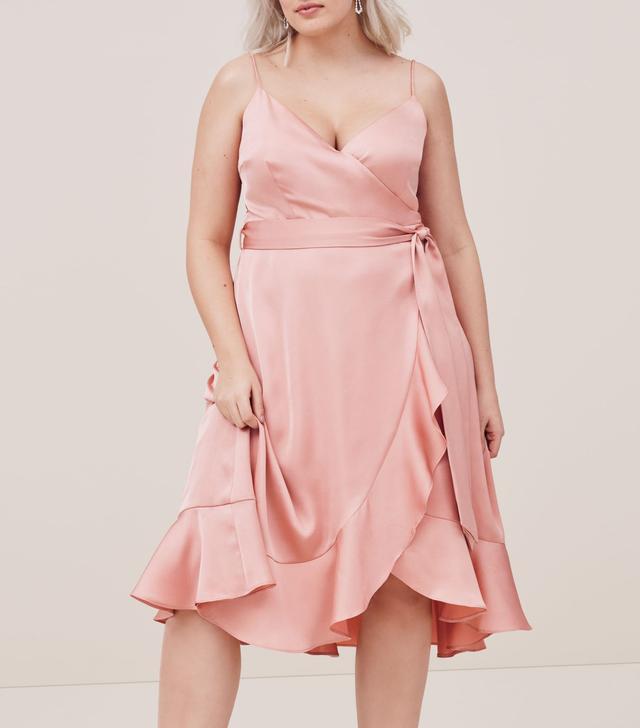 Plus Size Women's Cooper St Marilyn Satin Faux Wrap Dress