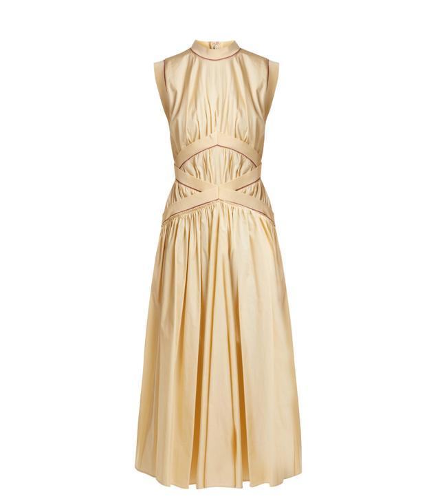 Braelyn sleeveless cotton-poplin dress
