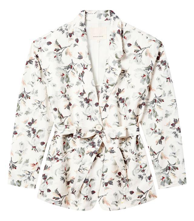 Rebecca Taylor Sofia Fleur Print Linen Jacket