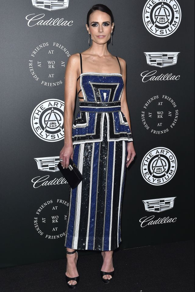 Instead of shiny silk,Bofsheverstyled Jordana Brewster in an intricately sequined design.