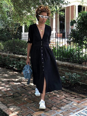 These Black Flowy Dresses Are So Easy to Wear