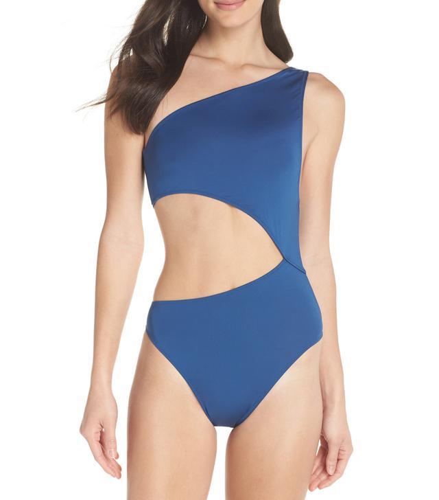Women's J.crew Playa Tilden One-Shoulder One-Piece Swimsuit