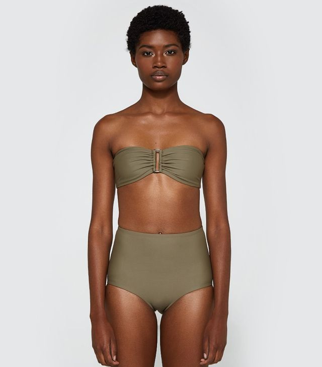 Bandeau Top in Olive
