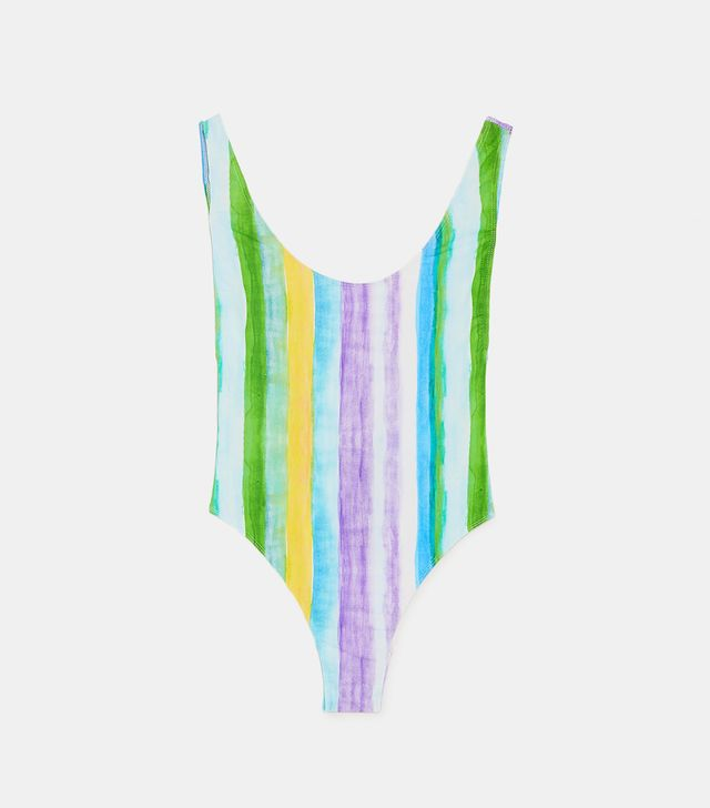 Zara Striped Swimsuit