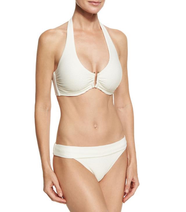 Heidi Klein Cote d'Azur U-Bar Halter Swim Top