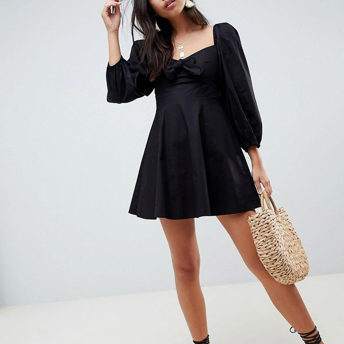 ASOS Design Sweetheart Neck Casual Skater Dress