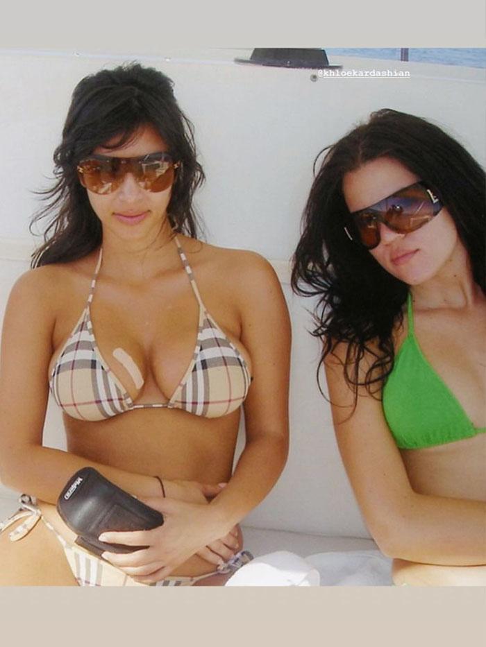 Kim Kardashian Burberry swimsuit