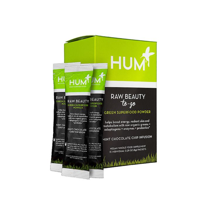 Raw Beauty To-Go Mint Chocolate Chip Beauty Supplement by Hum Nutrition