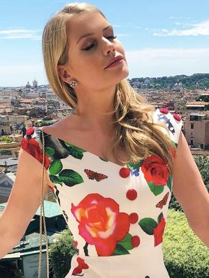 Kitty Spencer Just Wore the Prettiest Outfit on Her Roman Holiday
