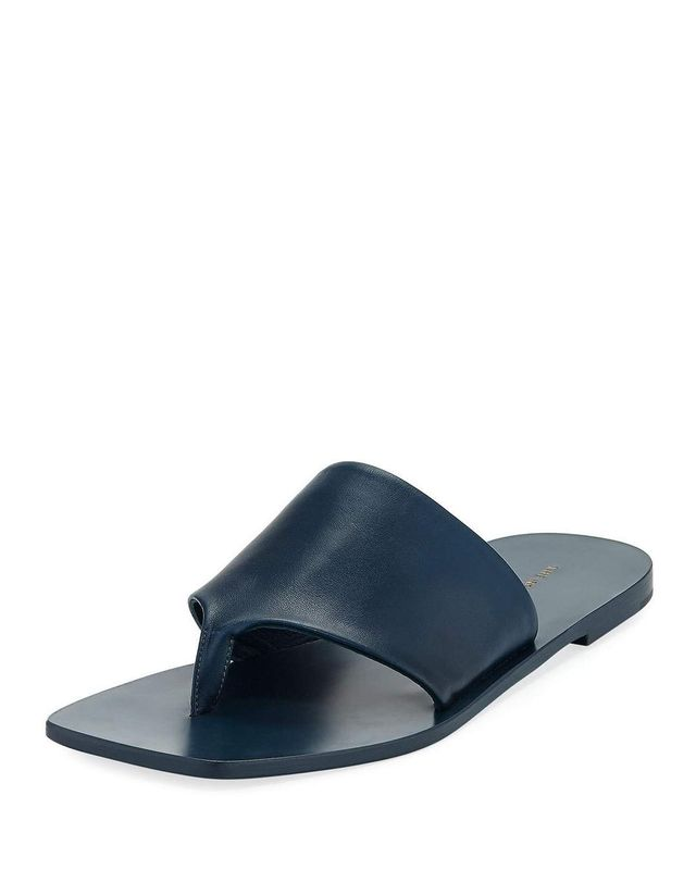 Flat Napa Leather Thong Sandal