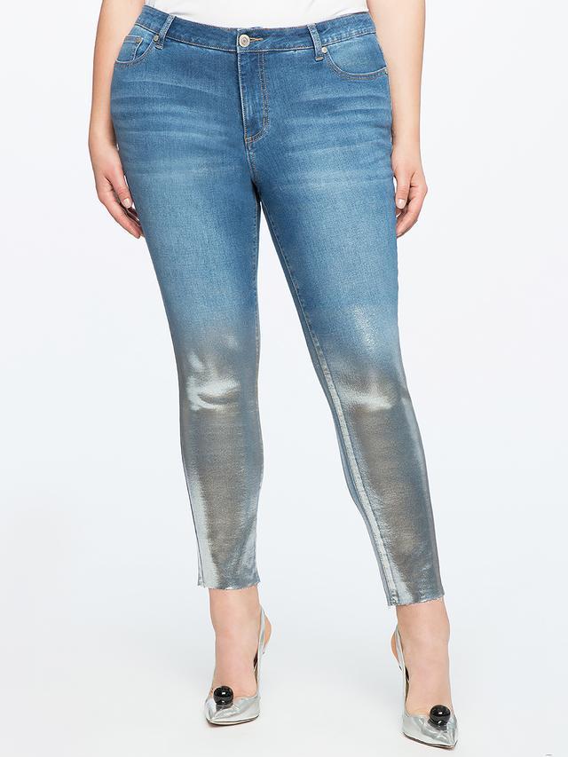 Eloquii Metallic Ombre Skinny Jeans