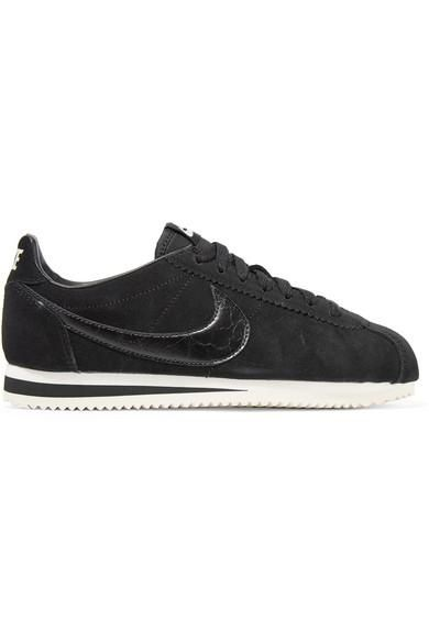 Classic Cortez Leather-trimmed Suede Sneakers