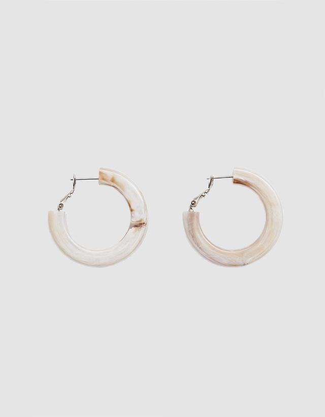 Moto Hoop Earrings in Shell