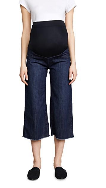 Wide Leg Designer Maternity Jeans