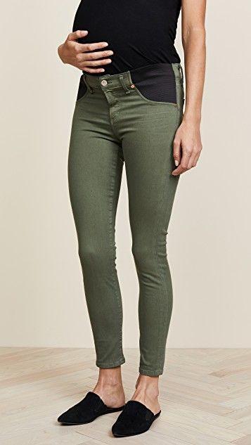 Green Designer Maternity Jeans