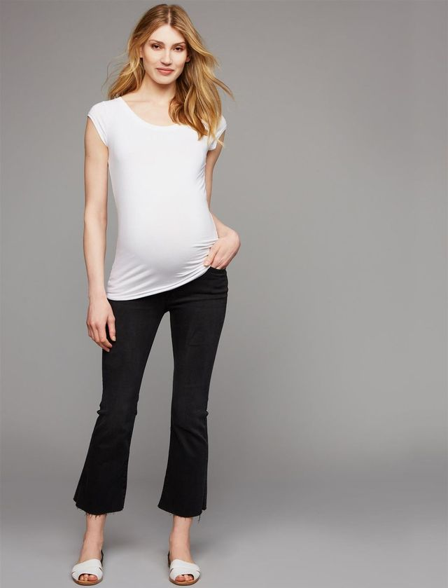 Raw Edge Designer Maternity Jeans