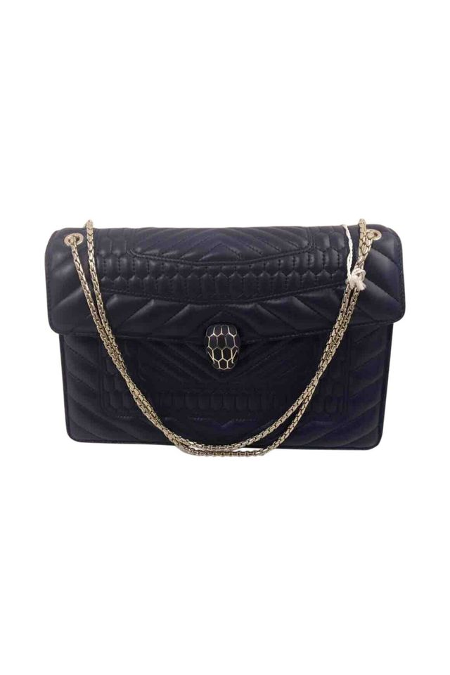 Bulgari Serpenti Leather Handbag