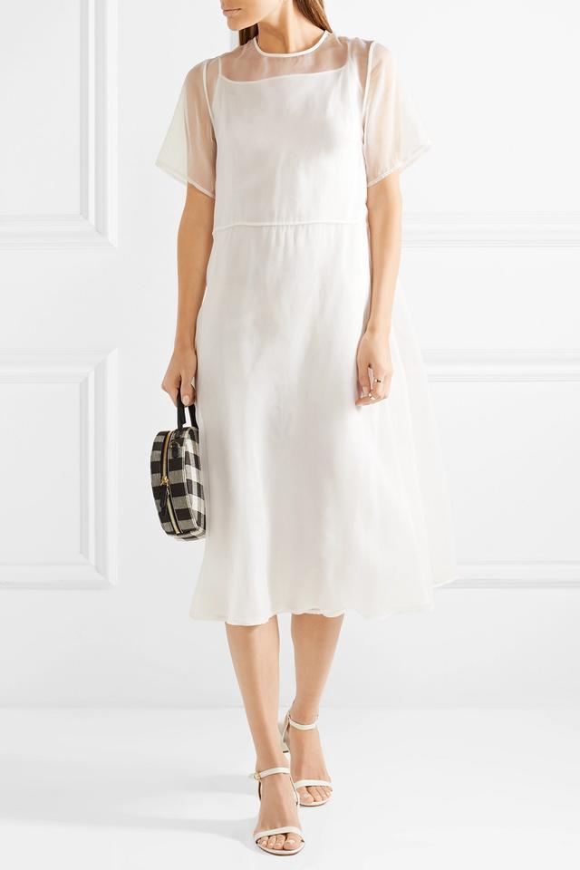 Silk-tulle Midi Dress