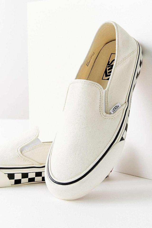 Vans Slip-On Checkerboard Sidewall White Women's Sneaker