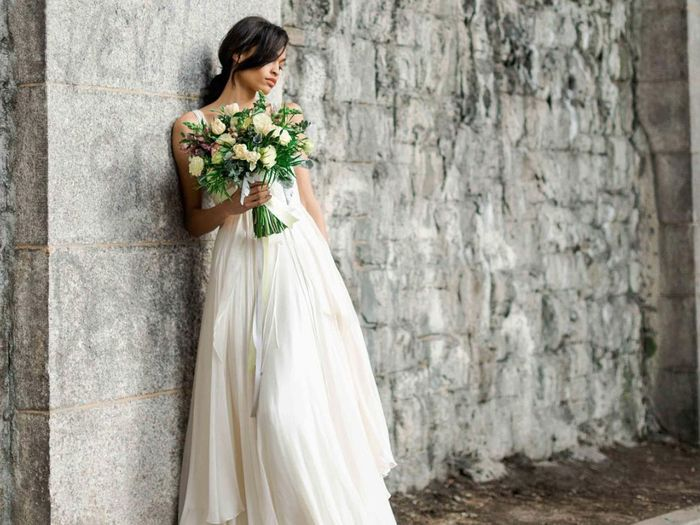 wedding dress material street style