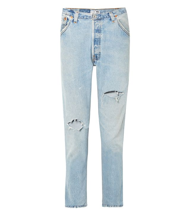 Levi's Distressed High-rise Slim-leg Jeans
