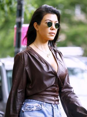Kourtney Kardashian's Naked-Strap Bikini Is a Chic Optical Illusion