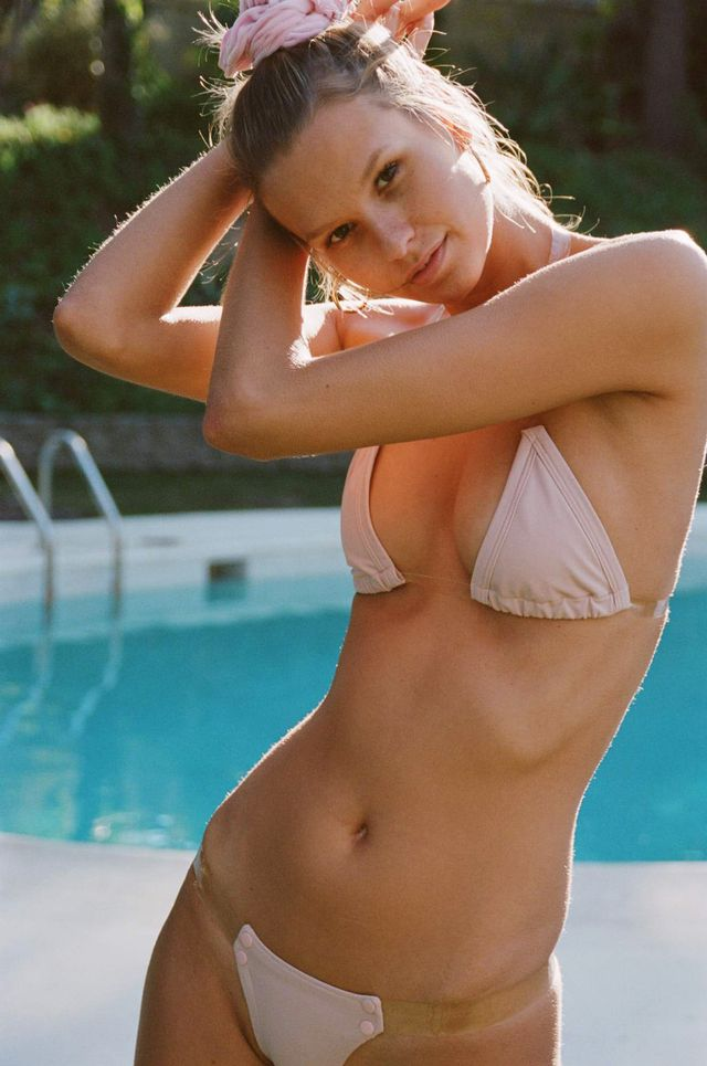 Girls on Swim Bare Strappy Bikini in Blush