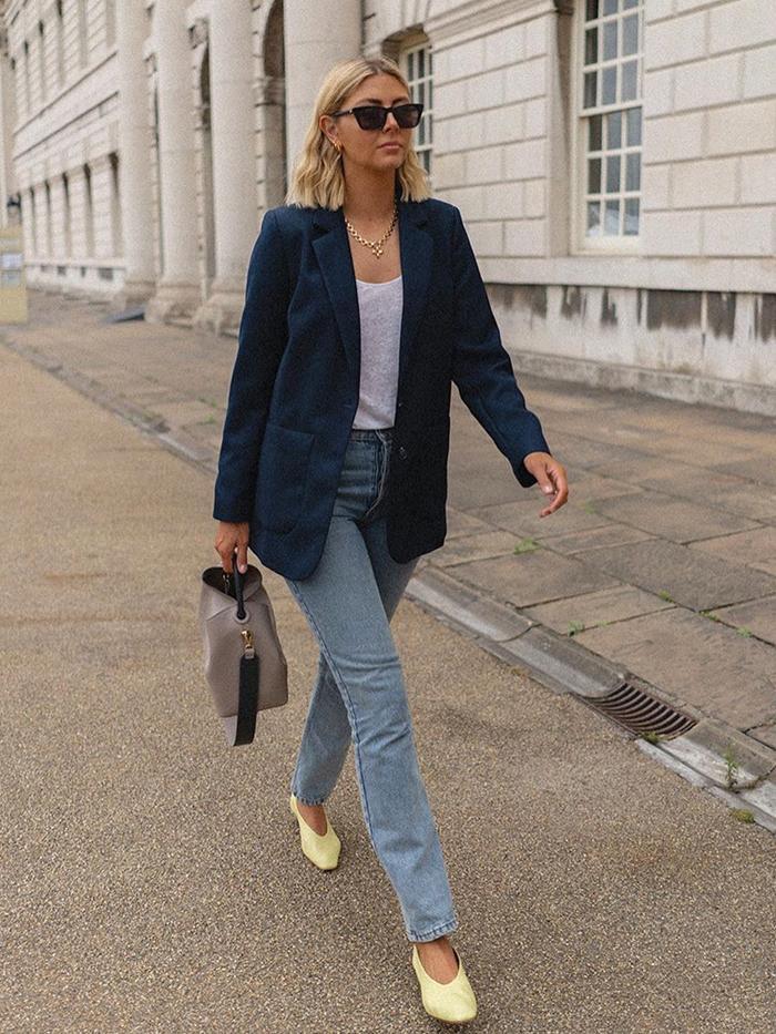 london shoe trends: emma hill wearing ballet pumps