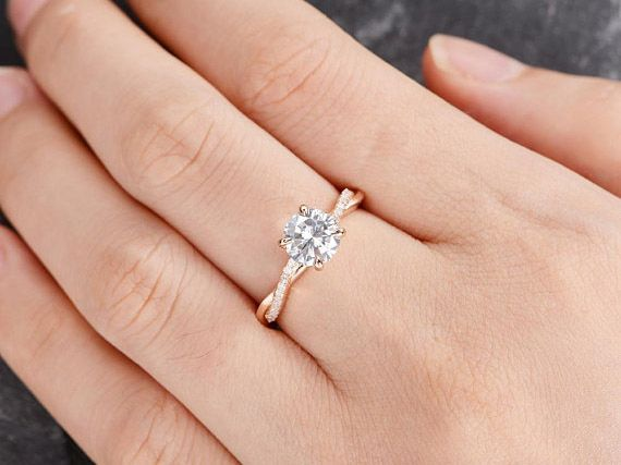 Moissanite engagement rings to buy now