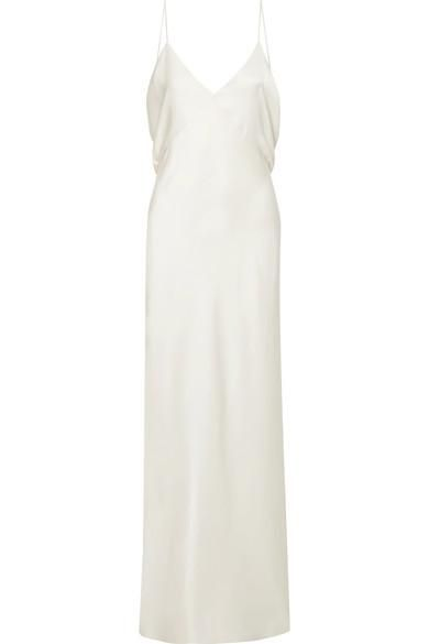 Gran Open-back Silk-charmeuse Gown
