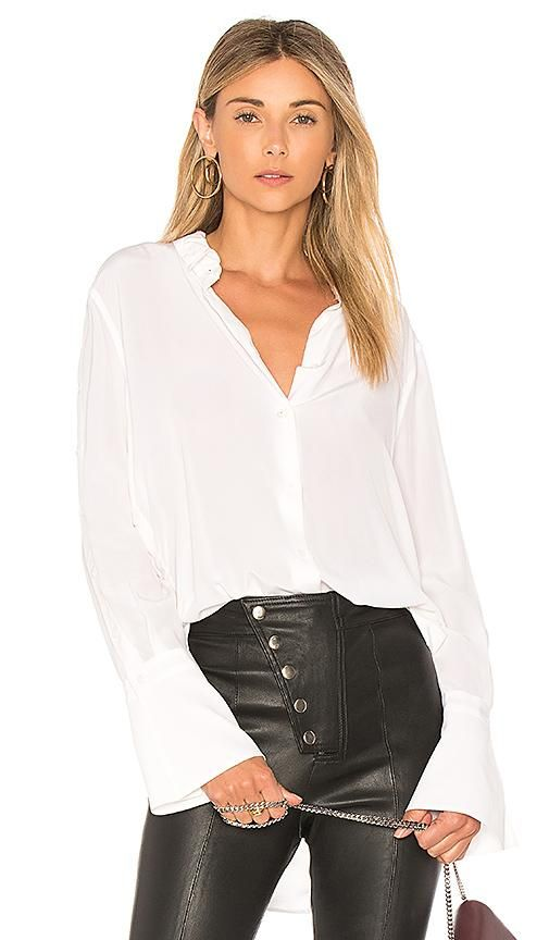 Rossi Top in White. - size S (also in L,M,XS)