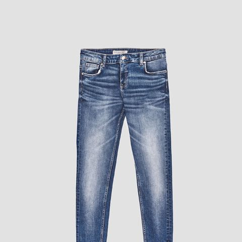 Skinny Jeans With Uneven Hems