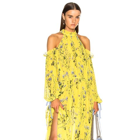 Floral Printed Cold Shoulder Dress
