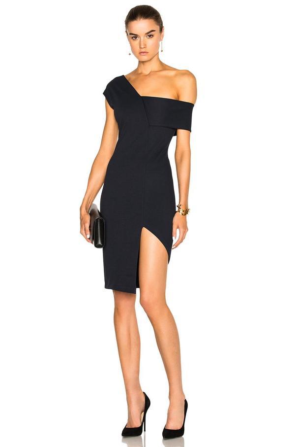 Asymmetrical Strap Dress