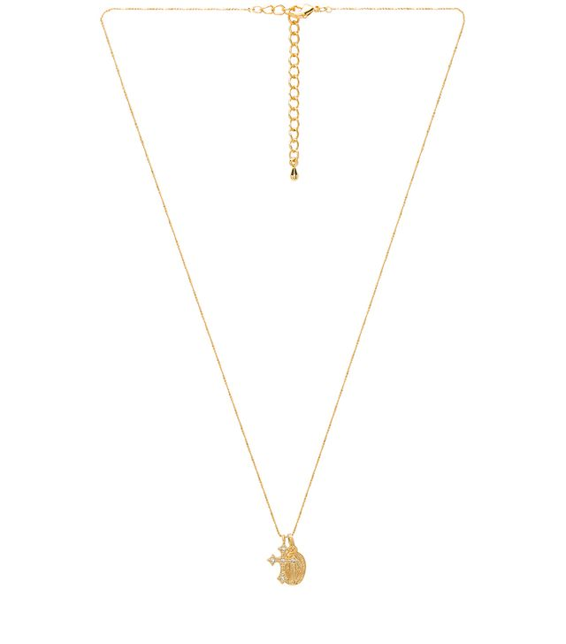 Five and Two Celeste Saint & Cross Necklace