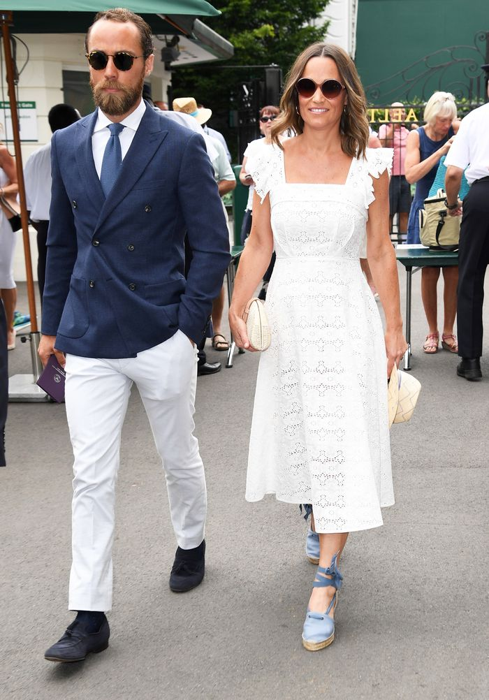 Pippa Middleton white lace dress:
