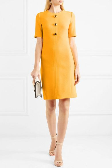 Wool-blend Crepe Dress