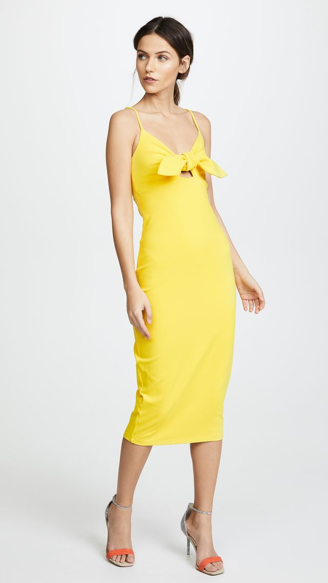 Isadora Bow Detail Midi Dress