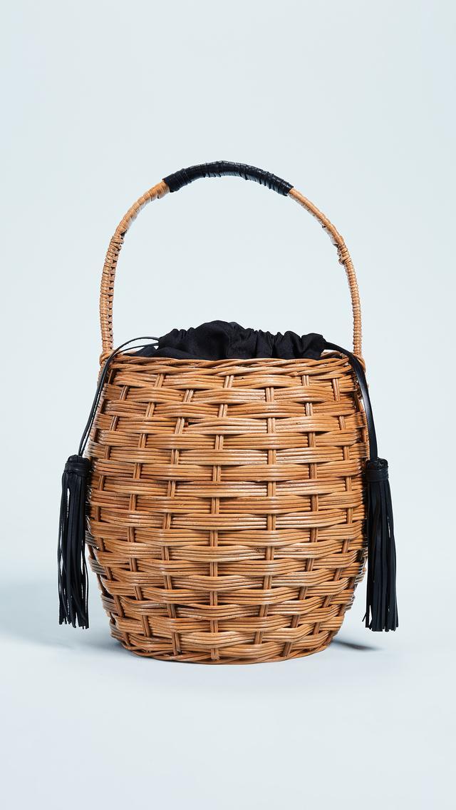 Marrais Woven Basket Bag