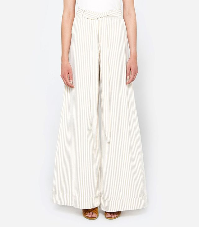 Antonio Striped Pant in Khaki