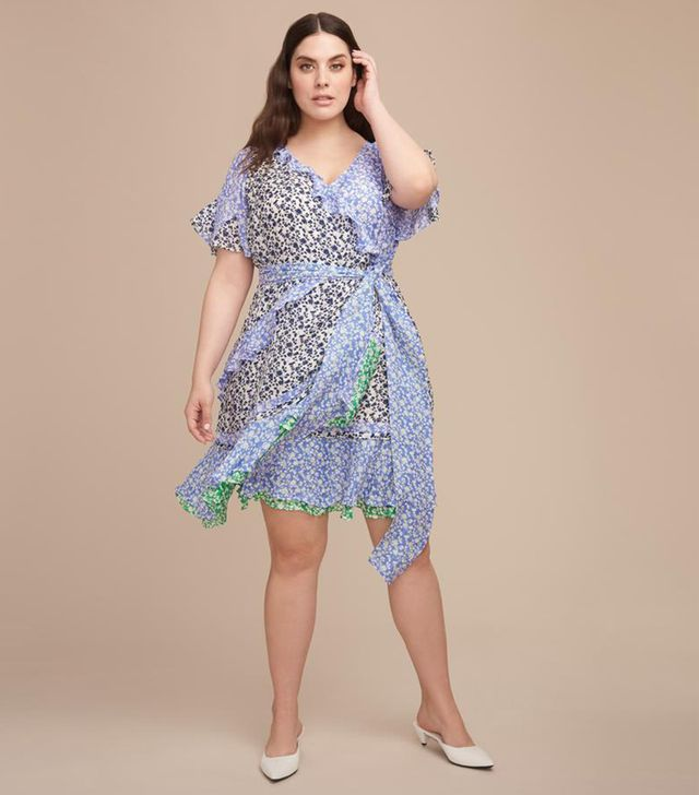 Tanya Taylor Ditsy Floral Textured Bianka Dress