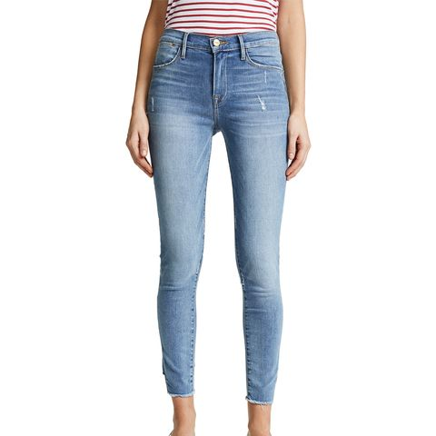 Le High Skinny Gusset Step Jeans