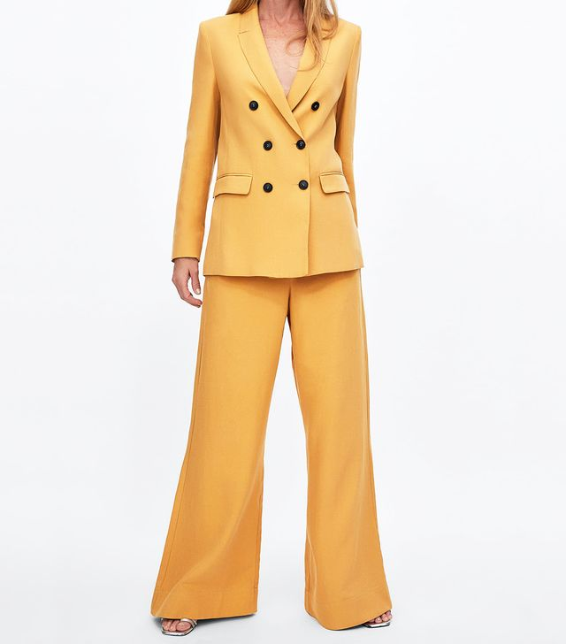 Zara Colorful Double Breasted Blazer