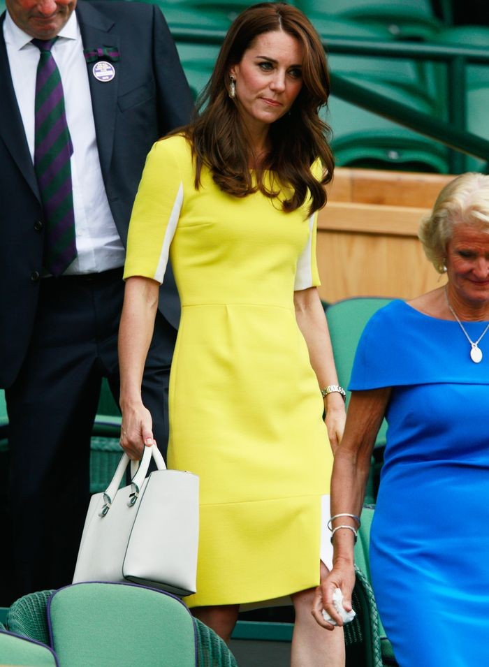 Kate Middleton at Wimbledon 2016: Yellow dress