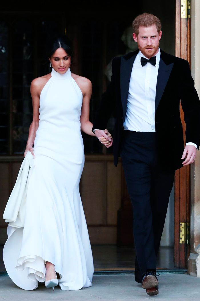 Best halterneck dresses: Meghan Markle wearing Stella McCartney halterneck dress at Royal wedding