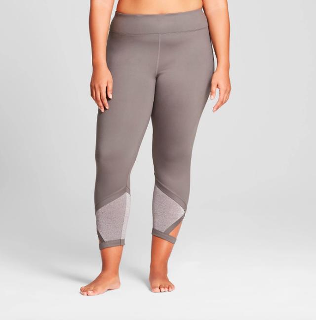 JoyLab Plus Comfort 7/8 Shine Pieced Leggings