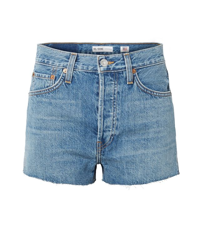 The Short Frayed Denim Shorts