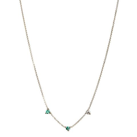 Counting Collection Three-Step Emerald & Diamond Necklace