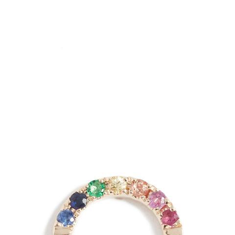 14K Gold Rainbow Stud Earring