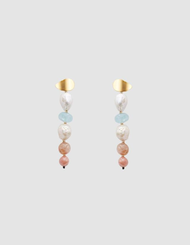 Column Earrings in Pastel